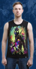 Street Art Tank Top, glow in UV