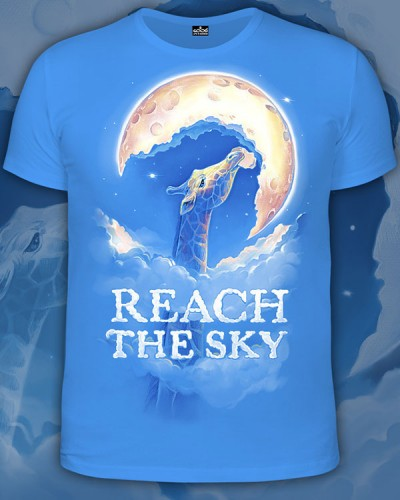 Футболка Reach the Sky, светится в темноте и УФ