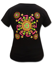 Circle Dance T-shirt, glow in UV