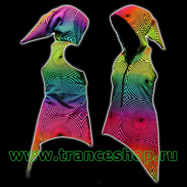 Wave Hooded Dress, glow in UV