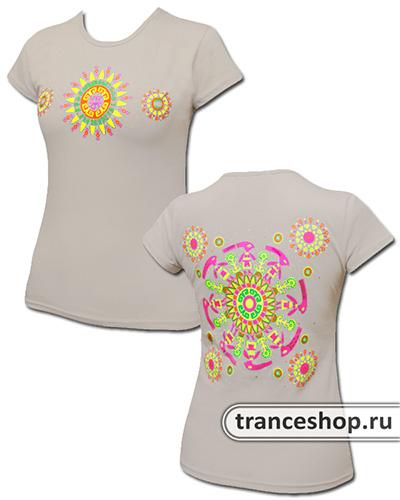 Circle Dance T-shirt, glow in UV