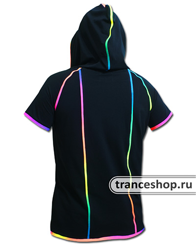 Hooded T-shirt, glow in UV
