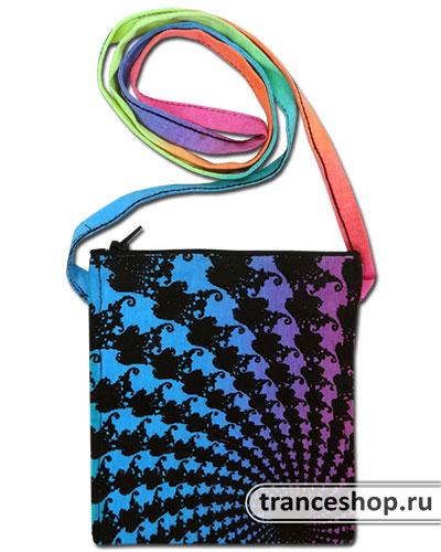 Fractal Pouch-Pocket, glow in UV