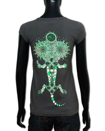 Geko T-shirt, glow in dark & UV