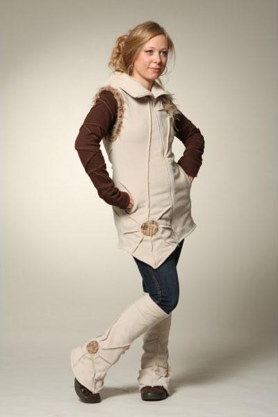 Пальто флисовое без рукавов