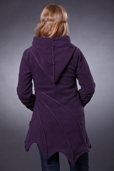 Пальто флисовое с капюшоном
