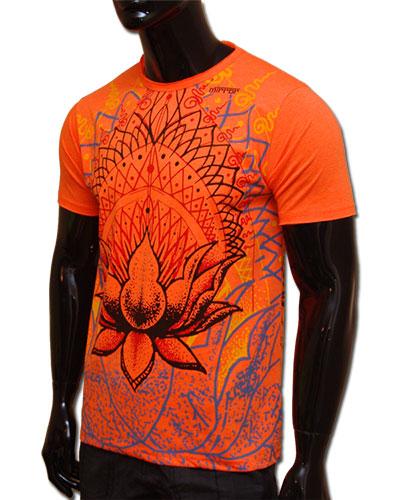 Lotus T-shirt, glow in UV