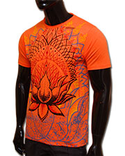 Lotus T-shirt, glow in UV