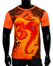 Om Ganesh T-shirt, glow in UV