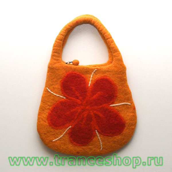 Flower Felt bag