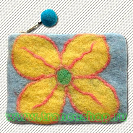 Flower Felt purse