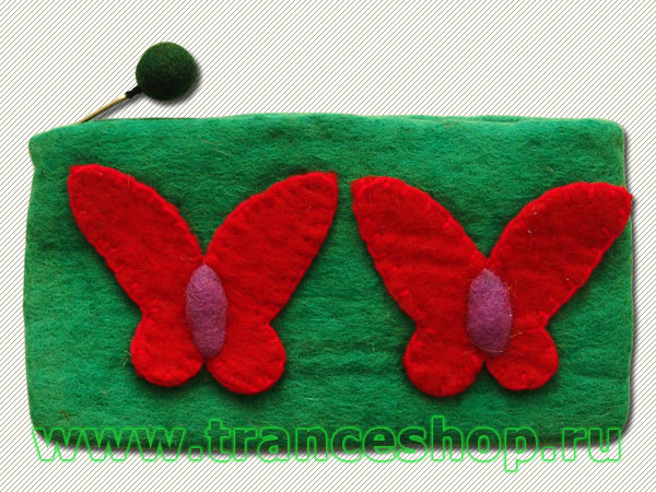 Butterflies Felt purse