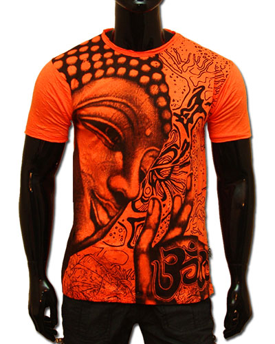 Buddha T-shirt, glow in UV