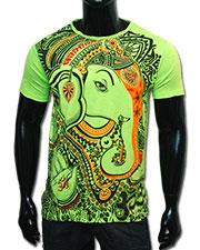 Ganesh T-shirt, glow in UV
