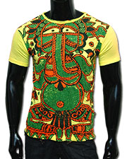 Art-Ganesh T-shirt, glow in UV