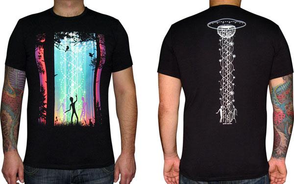 Dancing Galaxy T-shirt, glow in dark & UV