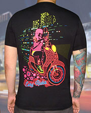Easy Rider T-shirt, glow in UV