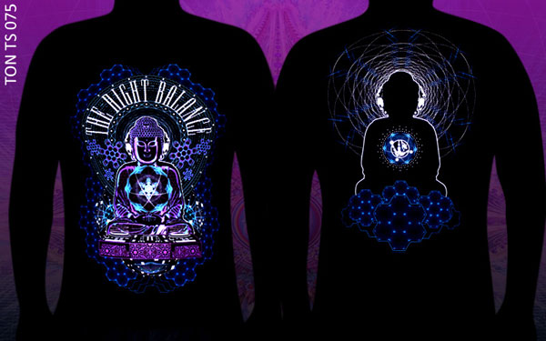 Buddha: The Right Ballance T-shirt, glow in dark & UV