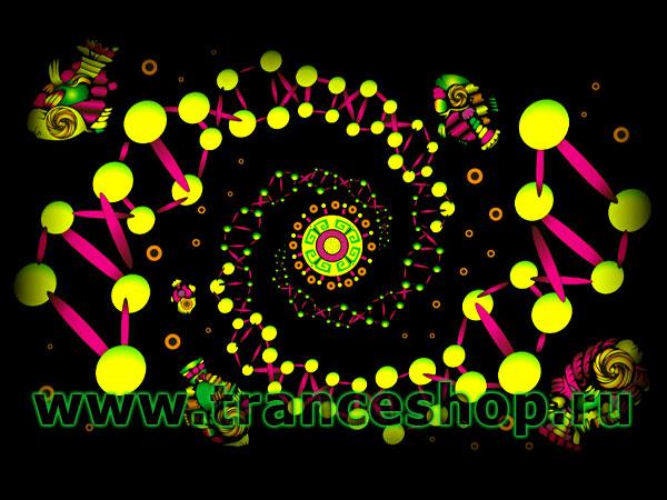 Футболка ДНК, светится в УФ