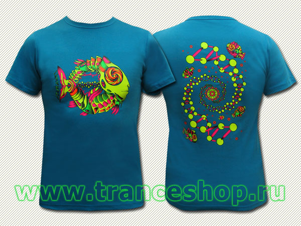DNA T-shirt, glow in UV