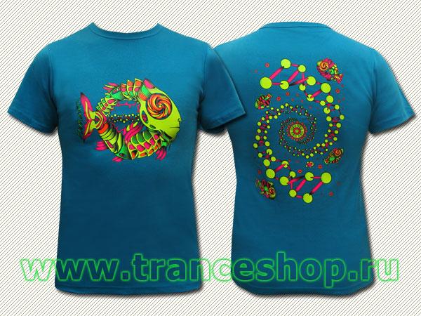 DNA T-shirt, glow in UV