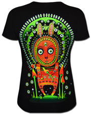 Leveret T-shirt, glow in dark & UV