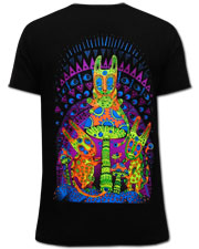 Fly Agaric Kidnapping T-shirt, glow in UV