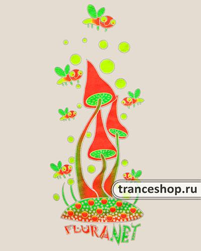 Толстовка «Танец вокруг грибов», светится в темноте и УФ