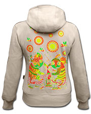 Dance on Mushrooms Hoodie, glow in dark & UV