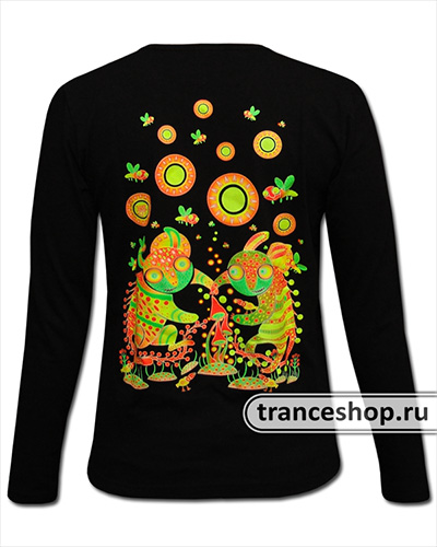 Dance on Mushrooms Longsleeve, glow in dark & UV