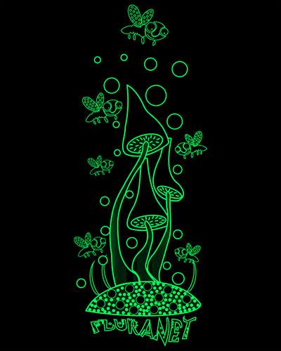 Dance on Mushrooms Longsleeve, glow in dark & UV