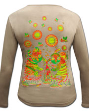 Dance on MusMushrooms hroom Longsleeve, glow in dark & UV