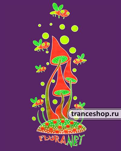 Футболка «Танец вокруг грибов», светится в темноте и УФ