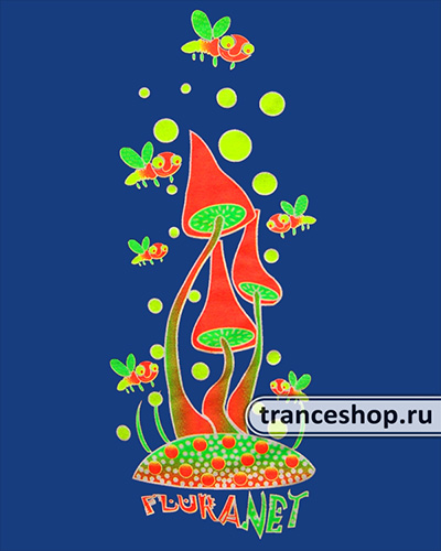 Футболка Танец вокруг грибов, светится в темноте и УФ