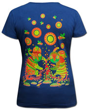 Dance on Mushrooms T-shirt, glow in dark & UV