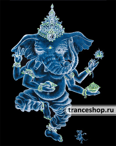 Nataraj T-shirt, glow in dark & UV
