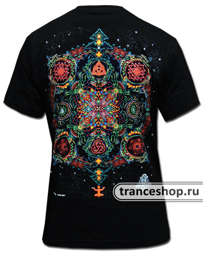 Mandala T-shirt, glow in dark & UV